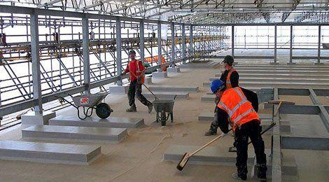 preparing floor area for concreting