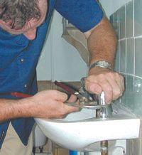 Plumbing Services - Skegness - Richard Hardie - Plumber and basin