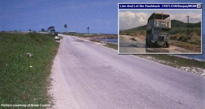 Lucea road from the bus chase in Live And Let Die (1973)