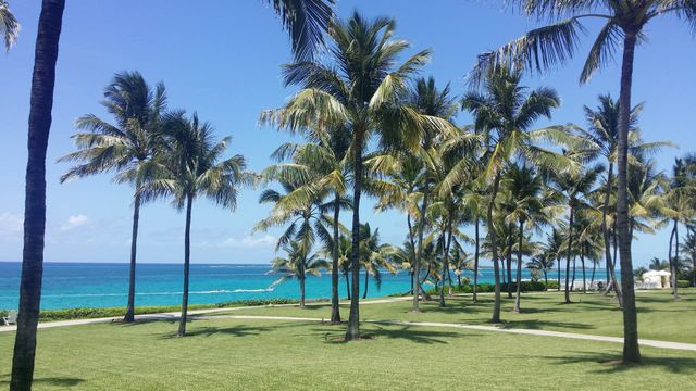 Splendid views from the front garden of the Ocean Club