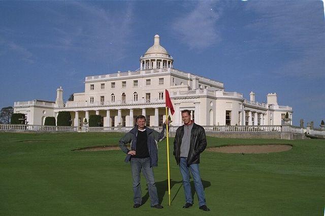 Dirk Kloosterboer (l) and Martijn Mulder visiting Stoke Park