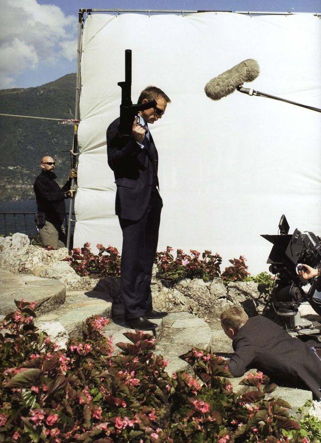 Daniel Craig and Jesper Christiansen filming scenes at Villa La Gaeta for Casino Royale