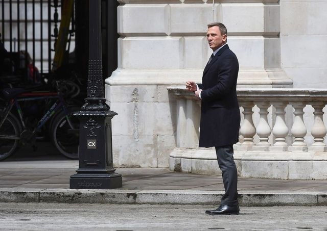 Daniel Craig as James Bond, back in London