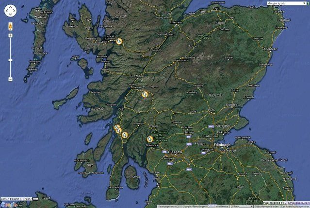 Scotland location map