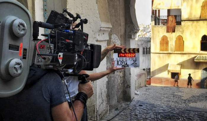 Filming in Tanger, Morocco