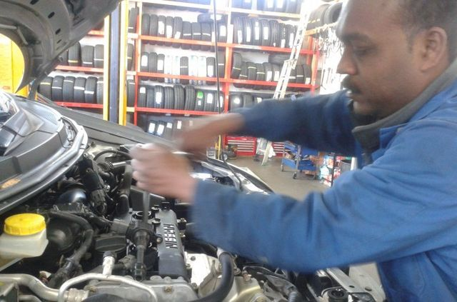 One of the mechanics at work in Auckland