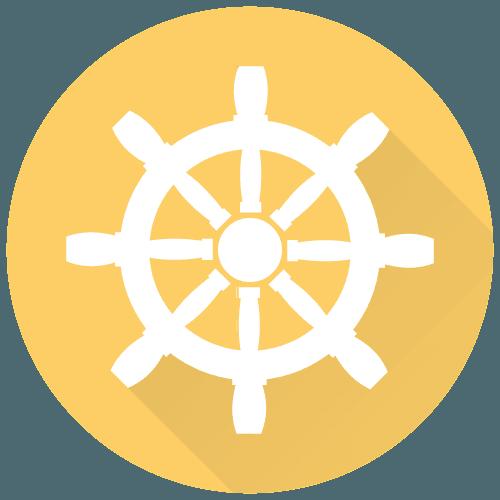 Icona di un timone