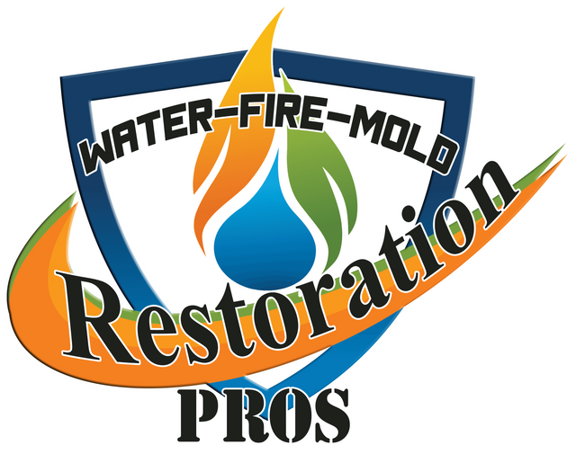 water damage logo restoration pros, water damage, fire damage