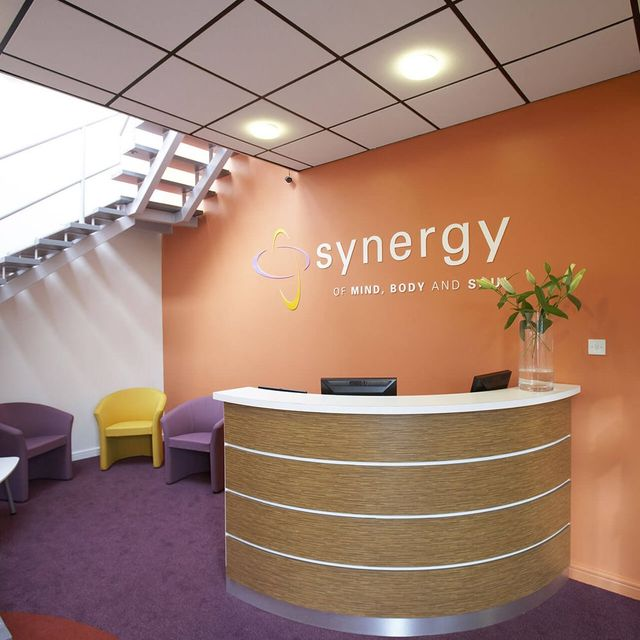 reception desk of synergy
