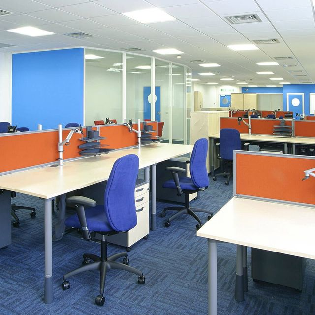 renovated office area