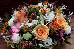 celebration of life ideas orange flowers