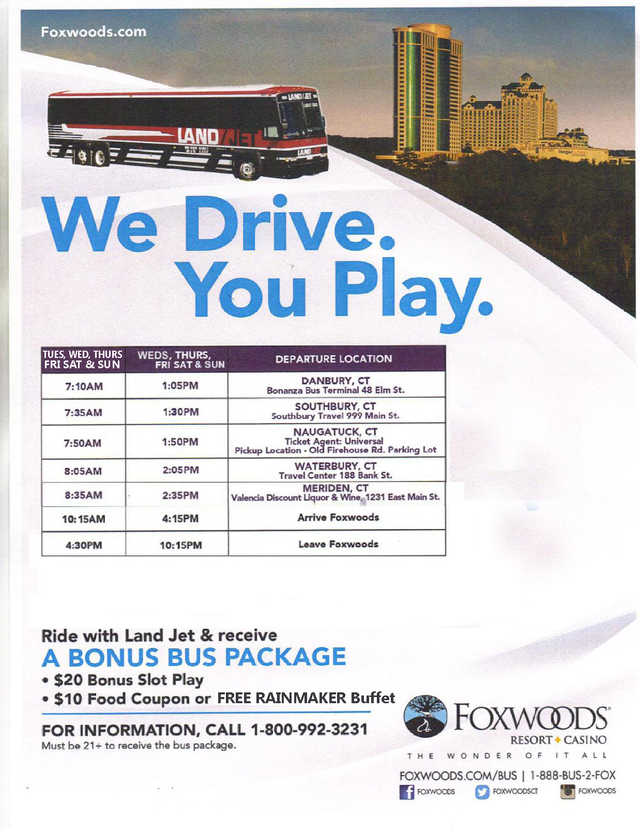 connecticut casino bus trips