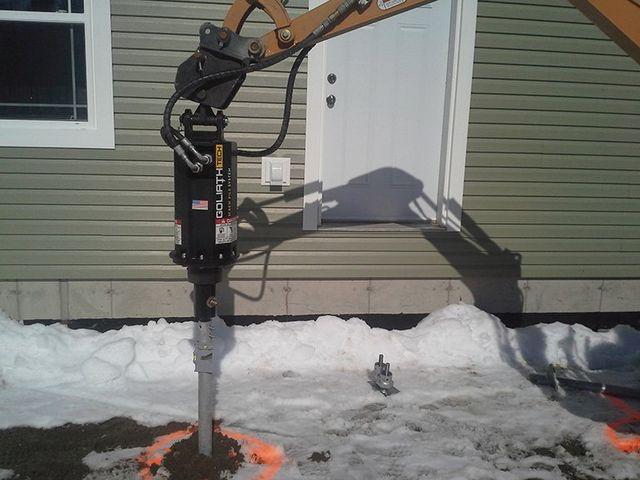 Colorado Helical Pile Installation