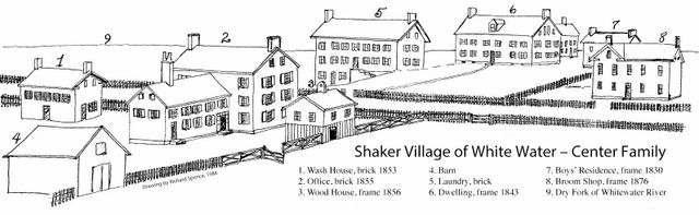shaker village drawing