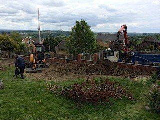 Ground works in progress