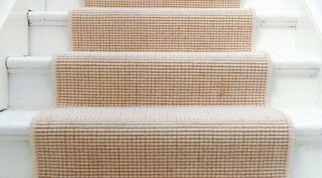 carpet on marble stairs