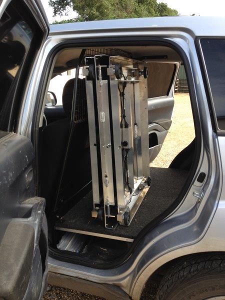equestrian accessories inside the car