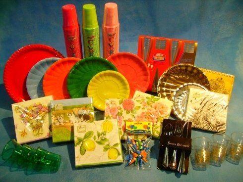 articoli usa e getta per regali e feste