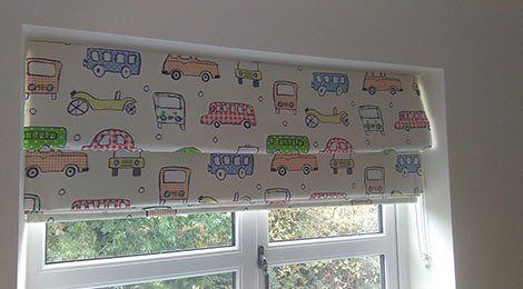 Blinds in a children room
