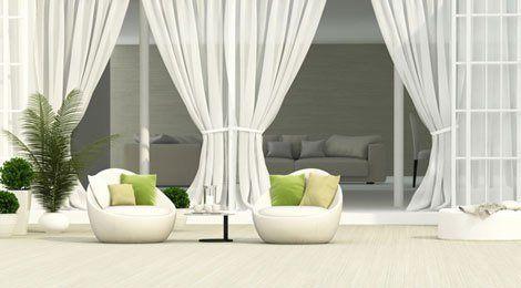 Beautiful white curtains