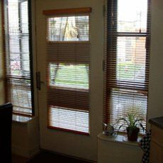 Blinds on door and windows