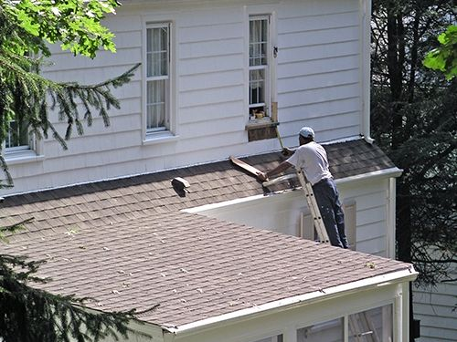 Exterior work being done by Vale-Freeburg painting and custom coating
