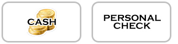 Payment icons for cash and check