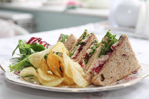 Sandwich served in a vintage café in Ampthill