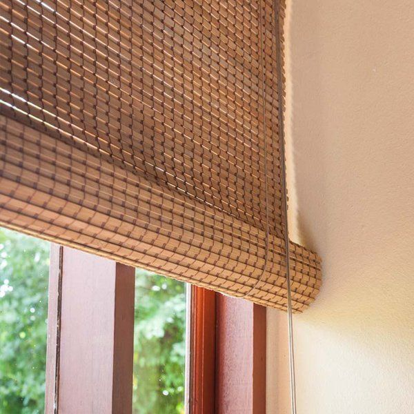 bamboo roller blind over a window