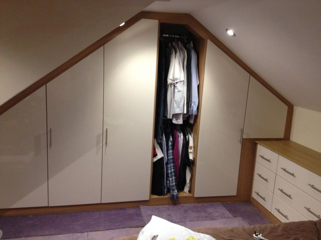Angled bedroom