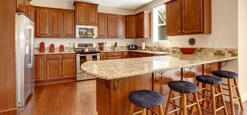 wooden custom cabinets in Anchorage