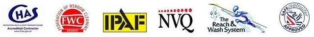 CHAS NVQ FWC logos