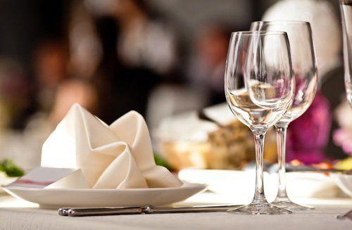 Vista del tavolo da pranzo a Marmirolo