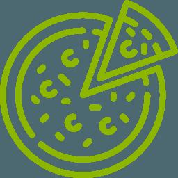 L'icona di una pizza