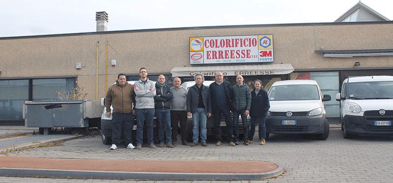 Gruppo di dipendenti Erreesse ad Arezzo