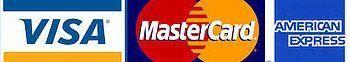 VISA MASTERCARD AMEX logos