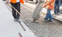 a worker plastering