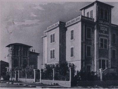 La Casa di Cura per malattie di Occhi ed Elioterapia Santa Lucia è stata fondata nel 1922