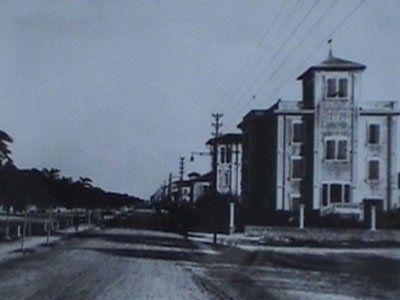 Vista della clinica dopo la sua costruzione