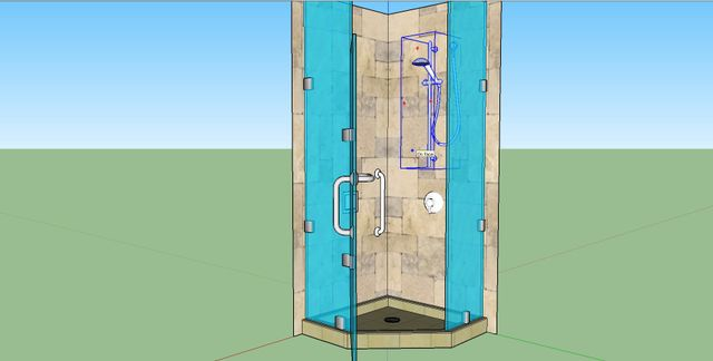 Rendering Ilration Of Shower