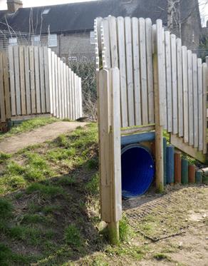blue colour plastic tunnel