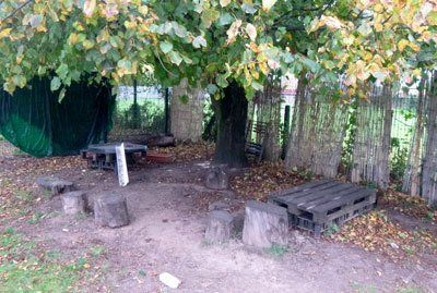 wooden seats