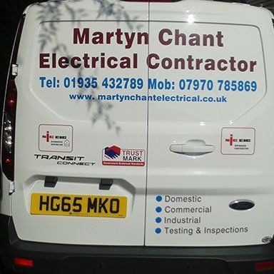 Company contact details on a van