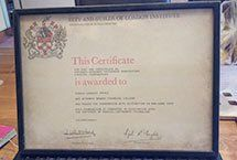 A City & Guilds Piano Tuning Certificate
