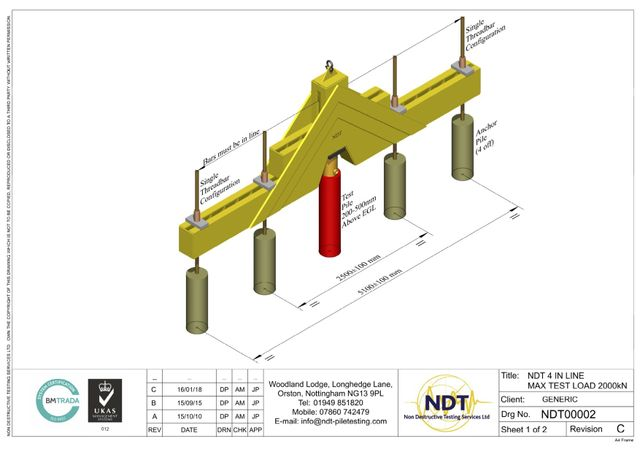 Drawings And Schematic Layouts Of Static Pile Testing By