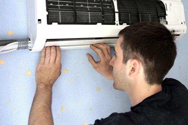 ventilator being serviced