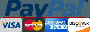 PayPal VISA AMEX MASTERCARD logos