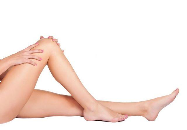 soft female model legs in a spa
