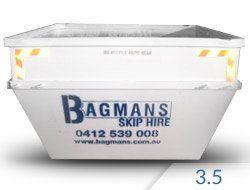 3.5 cubic metre skip hire
