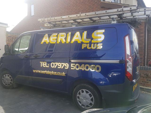 Aerials Plus company van